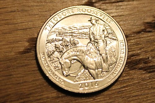 2016-S THEODORE ROOSEVELT ,ND QUARTER - UNCIRCULATED! From Mint roll North Dakot