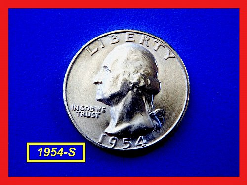 "1954-S  SILVER Quarter ✬ ""MS-63"" UNCIRCULATED ✬ (#2679)a"