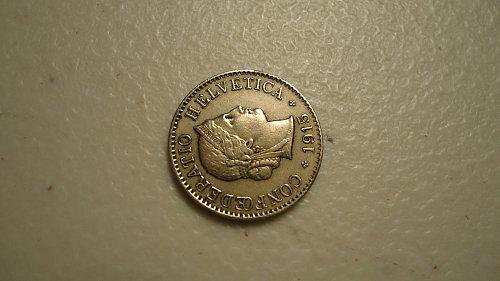 SWITZERLAND 1915B 5 RAPPEN