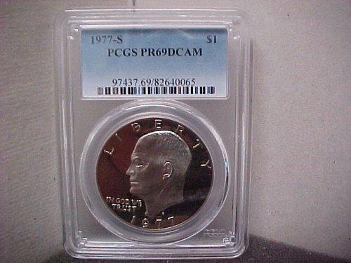 1977S $1 Ike Dollar PCGS PR69 DCam #065