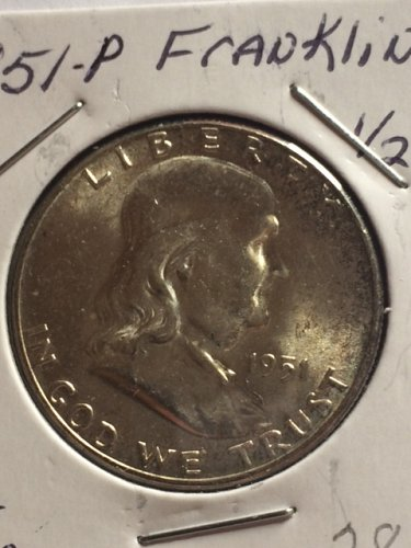 1951 P Franklin Half Dollars