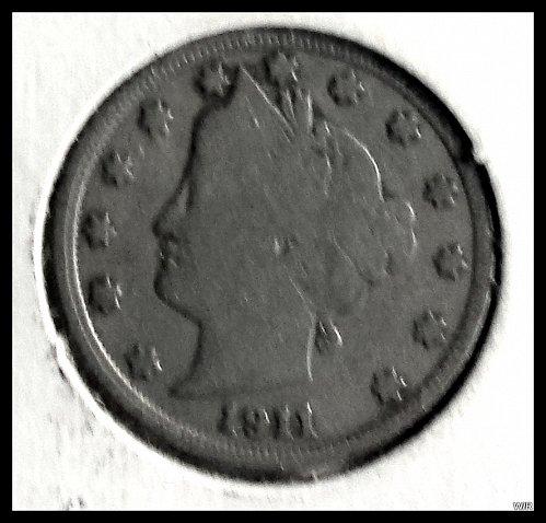 1911 P Liberty Head V Nickel