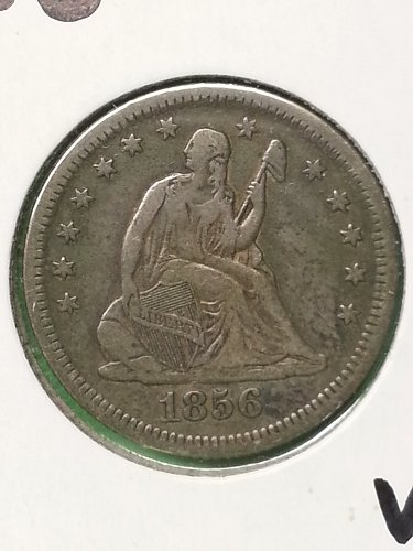 1856-O Seated Liberty Quarter
