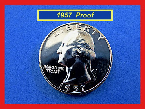 PROOF  1957 ☆ Washington Quarter  ☆ Beautiful Gem Proof  (#2736)a