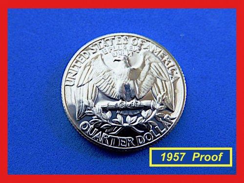 PROOF  1957 ☆ Washington Quarter  ☆ Beautiful Gem Proof  (#2736)a