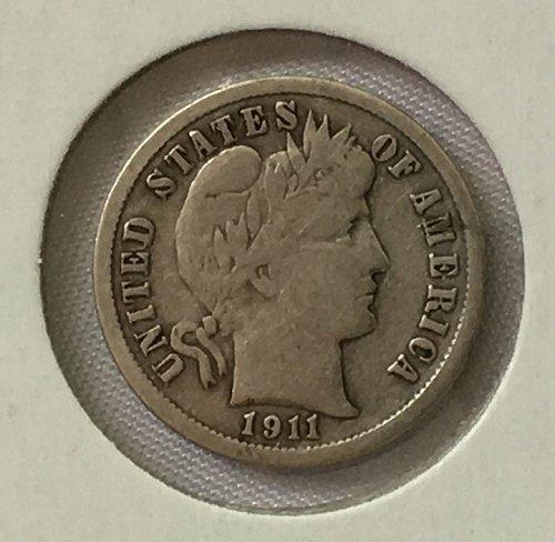 1911 P Barber Dime