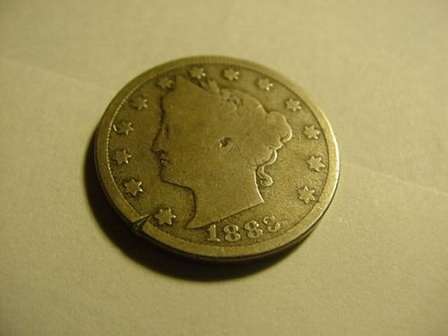 nice 1883 nickel wit cents