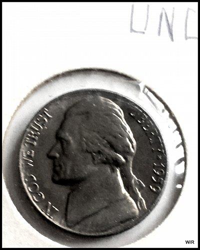 1959-P Jefferson Nickel: UNC