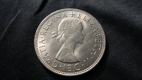 GREAT BRITIAN 1963 1/2 CROWN