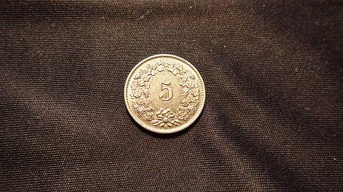 SWITZERLAND 1932B 5 RAPPEN
