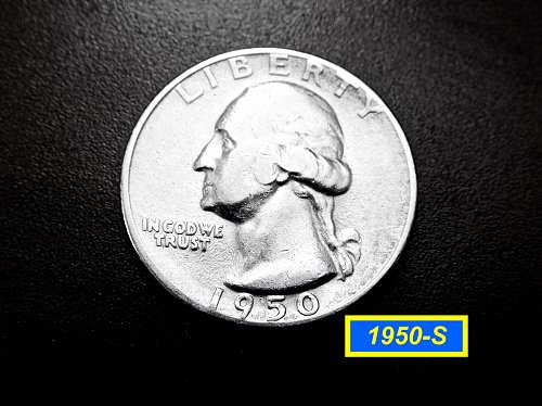 "1950-S   Washington Quarter ✬ ""VF-25""   ✬★  (#2660)a"