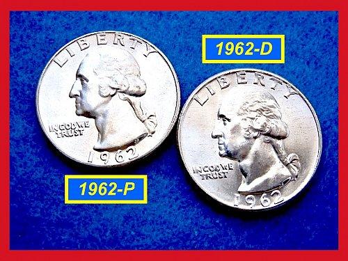 "1962-P & D  ""Brilliant Uncirculated""  ☆  Washington Quarters    (#2570)"