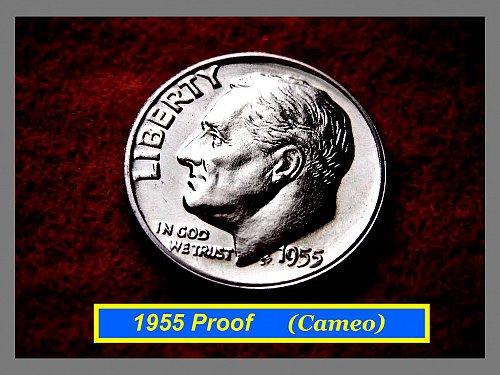 1955 CAMEO PROOF  DIME ★ Spot Free   ★    (#3191)a