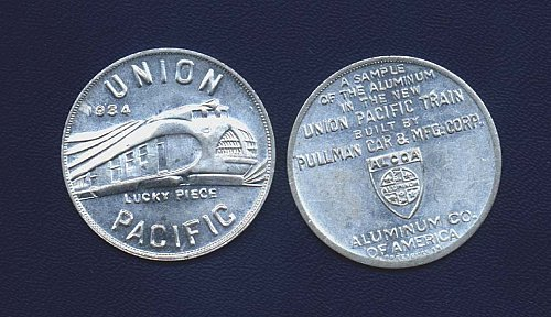 1934 union pacific alcoa pullman token