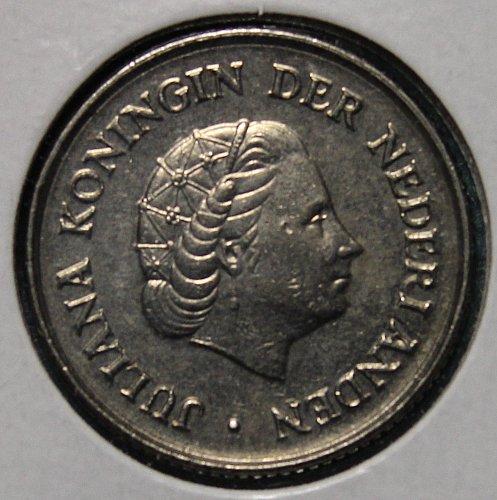 Netherlands 1969 25 cents