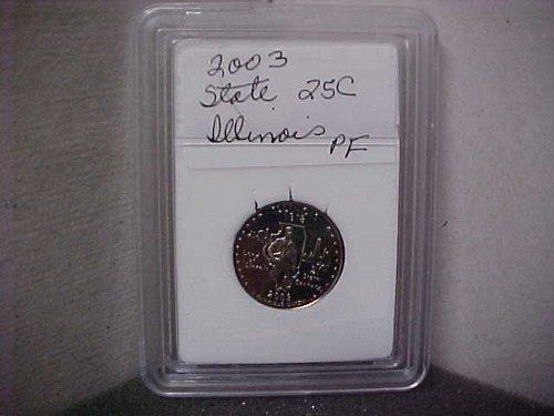 2003 S Washington State Quarter Proof Illinois