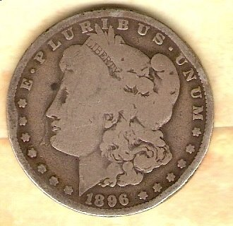 1896 O Morgan Silver Dollar - better date and mint mark