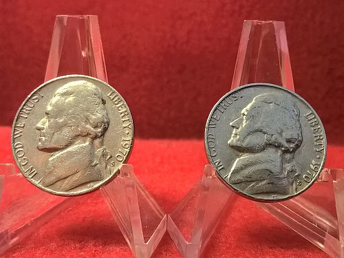 Pair of 1970-S Jefferson NIckels