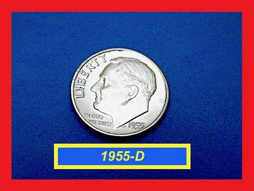 """1955-D """"BU"""" DIME  ✬ UNCIRCULATED ✬  (#3613)a"""