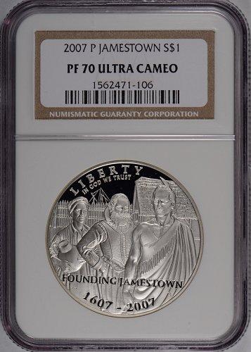 2007-P Jamestown Commemorative Silver Dollar NGC PF70-UC #168876
