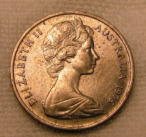 Australia 1976 5 Cent KM64 C0037