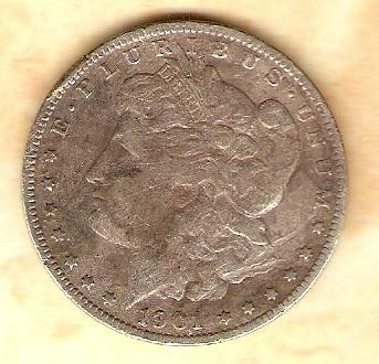 1901 O Morgan Silver Dollar
