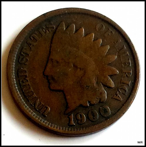 1900 P Indian Head Cent Small Cent