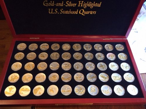 Gold and Silver Highlighted All 50 U.S. Statehood Quarters
