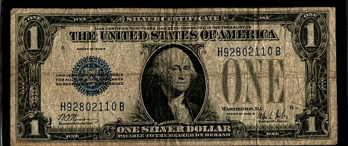 1928 B $1 Funny Back Silver Certificate 110