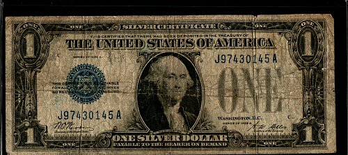 1928 A $1 Funny Back Silver Certificate 145