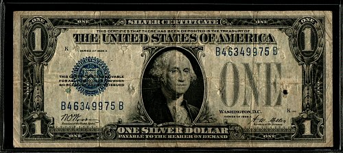 1928 A $1 Funny Back Silver Certificate 975