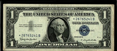 1957 B Star Note Better Condition
