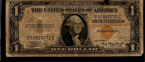 1935 A North Africa Emergency Issue $1 Silver Certificate