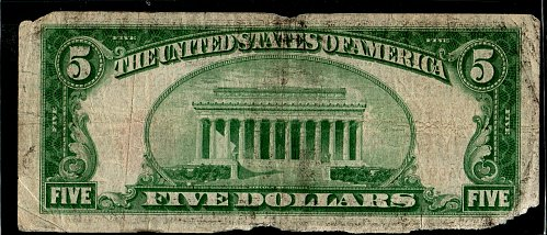1929 $5 Chicago Federal Reserve Note