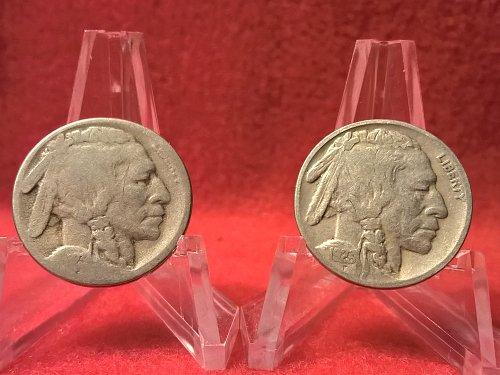 1923-P,S Buffalo Nickel
