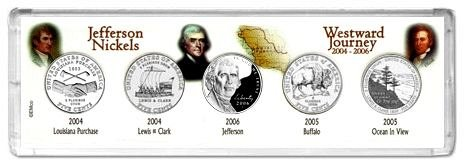 Westward Journey 2004-P 2005-P and 2006-P 5-Coin Collector Set Philadelphia Mint