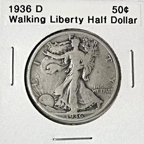 1936 D Walking Liberty Half Dollar
