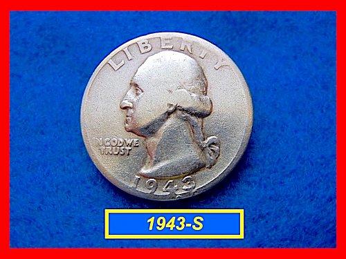 1943-S Washington  Quarter — Circulated — 90% Silver  (#2481)a
