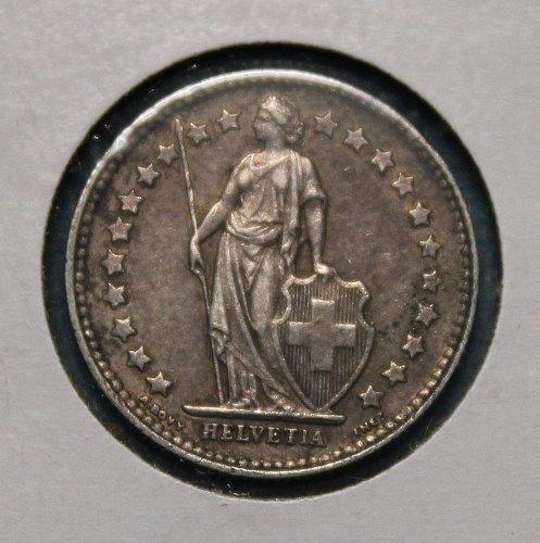 Switzerland 1920B half franc