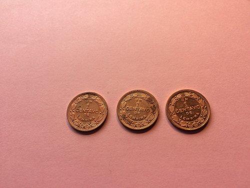 3 - 1992 HONDURAS 1 CENTAVO COINS