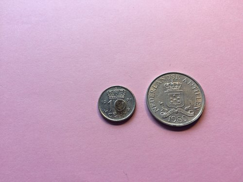 2 - NEDERLANDSE  COINS, 1971 10 CENT & 1980 2-1/2 CENT,