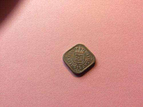 1980 5 CENT NEDERLANDSE ANTEILLEN COIN
