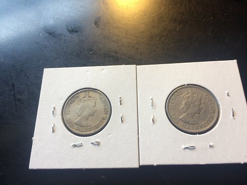 1991 & 1993 25 CENT BELIZE COINS