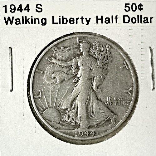1944 S Walking Liberty Half Dollar - 6 Photos!