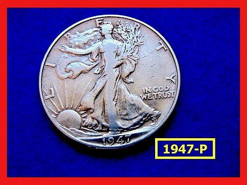"1947-P   Walking Liberty Half  ★  ""XF-40"" Condition   (#1690)a"