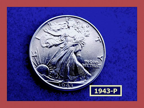 "1947-P   Walking Liberty Half  ★  ""AU-53"" Condition   (#1739)a"