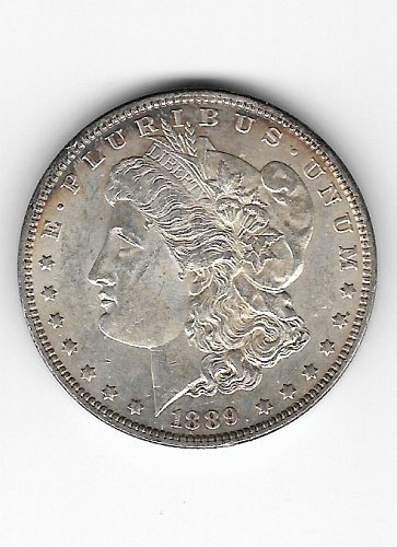 1889 Morgan Dollar Clashed Die Both Obverse and Reverse