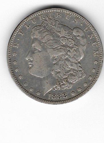 1888 O Morgan Silver Dollar Repunched Date  Variety