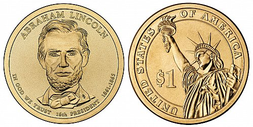 2010-P Abraham Lincoln Presidential Dollar coin - UNCIRCULATED from mint! BU