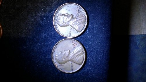 (2),1957-d wheat penny errors